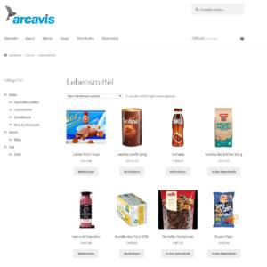 Webshop, Arcavis, WooCommerce